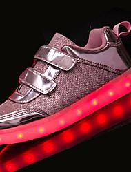 Черный Коричневый-Для девочек-Повседневный-Тюль-На плоской подошве-Удобная обувь-На плокой подошве