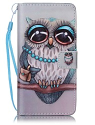 for Huawei P9 Lite Y5II Owl Painted Card Stent PU Leather Mobile Phone Holster Phone Case for Huawei P9 Lite Y5II Y6II