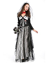 Skull  Spiritual Love Costumes Halloween Ghost Cosplay Women Vampire Costumes