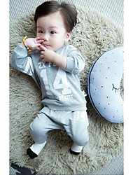 Baby Casual/Daily Print Clothing Set-Cotton-Spring / Fall-Black / Gray