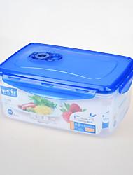 rectangular selado a vácuo 2,75 litros recipiente de armazenamento de alimentos