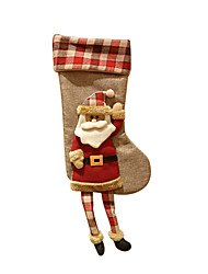 Christmas Toys / Gift Bags Holiday Supplies Socks / Santa Suits / Elk / Snowman Textile Red / White / Yellow All