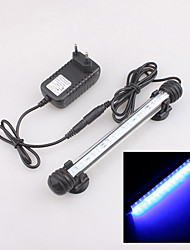 Aquarium Fish Tank 10cm 6 LED 5050 SMD Blue Light Bar Strip Underwater Submersible Waterproof Clip Lamp Moonlight