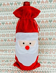 Red Wine Bottle Cover Bags Christmas Dinner Table Decoration Home Party Decors Santa Claus