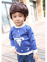 Boy's Casual/Daily Print Sweater & CardiganCotton Spring / Fall Blue / Green / Red