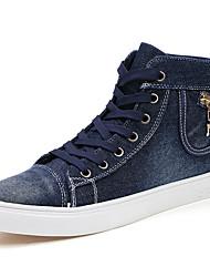 Femme-Décontracté-Noir / Marine-Talon Plat-Confort / Bottes à la Mode-Sneakers-Toile