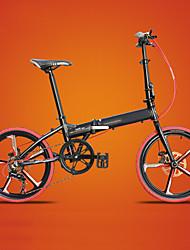 Bicicleta De Montanha Ciclismo 7 Velocidade 20 polegadas Caçoa / Masculino / Mulheres Freio a Disco Duplo Garfo com Suspensão a Mola