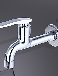 Contemporary Standard Spout Centerset Clawfoot with  Brass Valve Single Handle One Hole for  Chrome  Kitchen faucet. JL-LP01