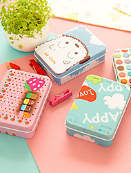 Mini Tin Table Storage Box Retro Color Cute For Stationery(Random Colours)