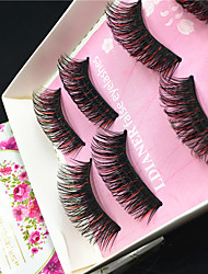 Eyelashes lash Others Eyes Colorful Volumized Handmade Fiber Black Band 0.10mm 15mm