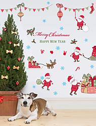 Noël Mode Vacances Stickers muraux Autocollants avion Miroirs Muraux Autocollants Autocollants muraux décoratifs Matériel Amovible