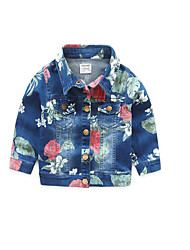 Boy's Casual/Daily Floral Jacket & CoatCotton Spring / Fall Blue