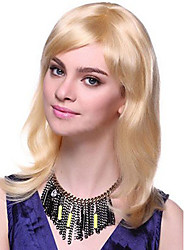 Wholesales Blonde Color Straight Synthetic Wigs For Afro Women