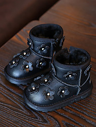 Girl's Boots Comfort Leather Casual Black / Pink / Gray
