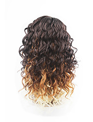 New Style Medium Brown Hair Lace Front Loose Wave Synthetic Hair Lace Wigs