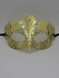 Laser Cut Metal Venetian Masquerade Mask for Women with Crystals2007A3
