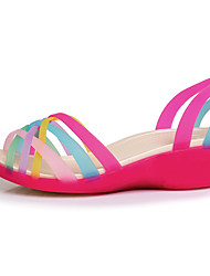 Women's Sandals Summer Comfort PU Casual Wedge Heel Others Blue Yellow Red Orange Fuchsia Others