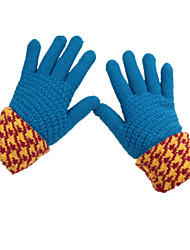 Winter Fashion Cashmere Wool Thickening Ms. Gloves (Blue A Pack Of Two Pairs)