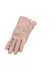 Note couleur rose bow noeud dot glissement des gants antidérapants
