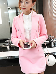 Sign ladies small fragrant wind woolen jacket lapel metal rings A-Slim woolen skirt piece