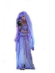 Disfraces de Cosplay Mago/Bruja / Vampiros Cosplay de Películas Púrpura Un Color Vestido / Para la Cabeza Halloween / Carnaval Mujer