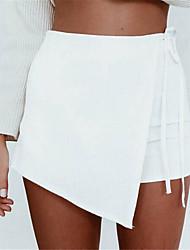 Mulheres Calças Sensual / Boho Shorts / Chinos Poliéster Sem Elasticidade Mulheres