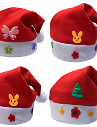 Christmas Gifts Christmas Hats kids Hat Child Paragraph Decals Christmas Cartoon Caps Kids Cap (Style Random)