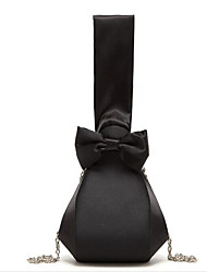 Women-Formal  Storage Bag & Shoulder Bag/Tote / Casual / Event/Party / Wedding / Outdoor-Satin-Evening Bag-Black
