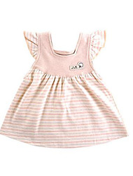 Baby Casual/Daily Striped DressCotton Summer / Spring Pink / Gray