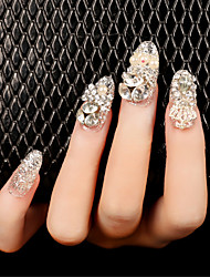24Pcs Exquisite Fashion Nail Patch  1Set