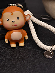 Car Key Ring Braided Rope Key Chain Pendant Couple Lovely Monkey Key Ring