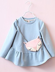 Girl's Going out Solid ShirtCotton Spring / Fall Blue / Pink