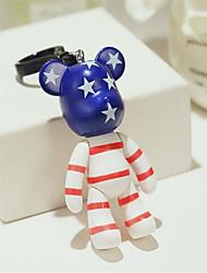 mignon ours de bande dessinée poupée porte-clés pendentif voiture créative