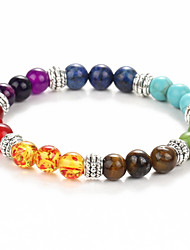 2016 New Natural Black Lava Stone Bracelets Chakra Healing Balance Beads Bracelet for Men Women Stretch Yoga Jewelry
