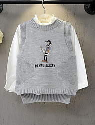 Girl's Casual/Daily Print Sweater & CardiganAcrylic Winter / Fall Gray