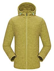 KORAMAN Men's Outdoor Sweatshirt Full-zip Drawsrting Sport Running Hooded Fleece Jacket