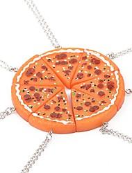 Necklace Pizza Pendant Necklace Orange 1pcs for Women Close Friend