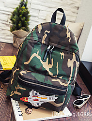 Women Canvas Casual Backpack Green