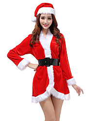Women's Long Sleeve Sexy Christmas Outfit Coat Fancy Dress Claus Costume