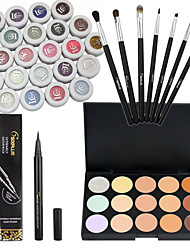24 Eyeshadow And 15 Concealer And 7 Makeup Brushes Palette Matte Eyeshadow palette Cream Set Daily Makeup