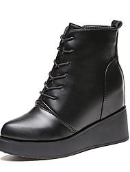 Для женщин Ботинки Туфли Мери-Джейн Армейские ботинки Полиуретан Зима Повседневные Для прогулок Туфли Мери-Джейн Армейские ботинки