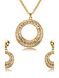 Women's Jewelry set Jewelry Halloween/Wedding/Party/Daily/Casual Stainless Steel Golden 1pc Gift