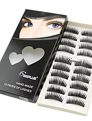 1 Eyelashes lash Full Strip Lashes Eyelash Crisscross Lifted lashes Manual Fiber Black Band 0.05mm 9mm 1028#