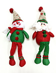 noël ornements bonhomme de neige&SANTA 2pcs claus
