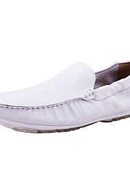 Men's Loafers & Slip-Ons Moccasin Genuine Leather Outdoor / Office & Career / Casual Flat Heel