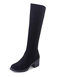 Для женщин Ботинки Армейские ботинки Кашемир Зима Повседневные Для прогулок Армейские ботинки В клеткуНа толстом каблуке На платформе