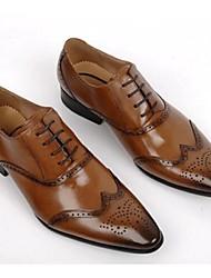 Men's Oxfords Formal Shoes Comfort Bullock shoes Cowhide Wedding Office & Career Black Coffee