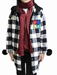 Girl's Casual/Daily Plaid BlouseCotton Winter Red / White