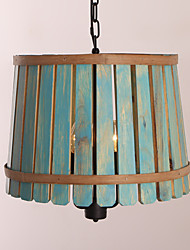 Pendant Light ,  Vintage Retro Country Wood Feature for Designers Wood/Bamboo Living Room Bedroom Dining Room Study Room/Office Kids Room