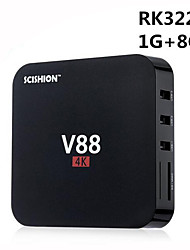 scishion v88 rk3229 Android 5.1 Smart TV Box 4k 1g ram 8g rom Quad-Core Wi-Fi